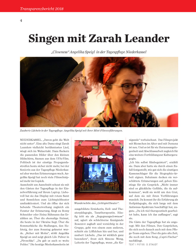 Presseartikel April19 - Singe mit Zara Leander